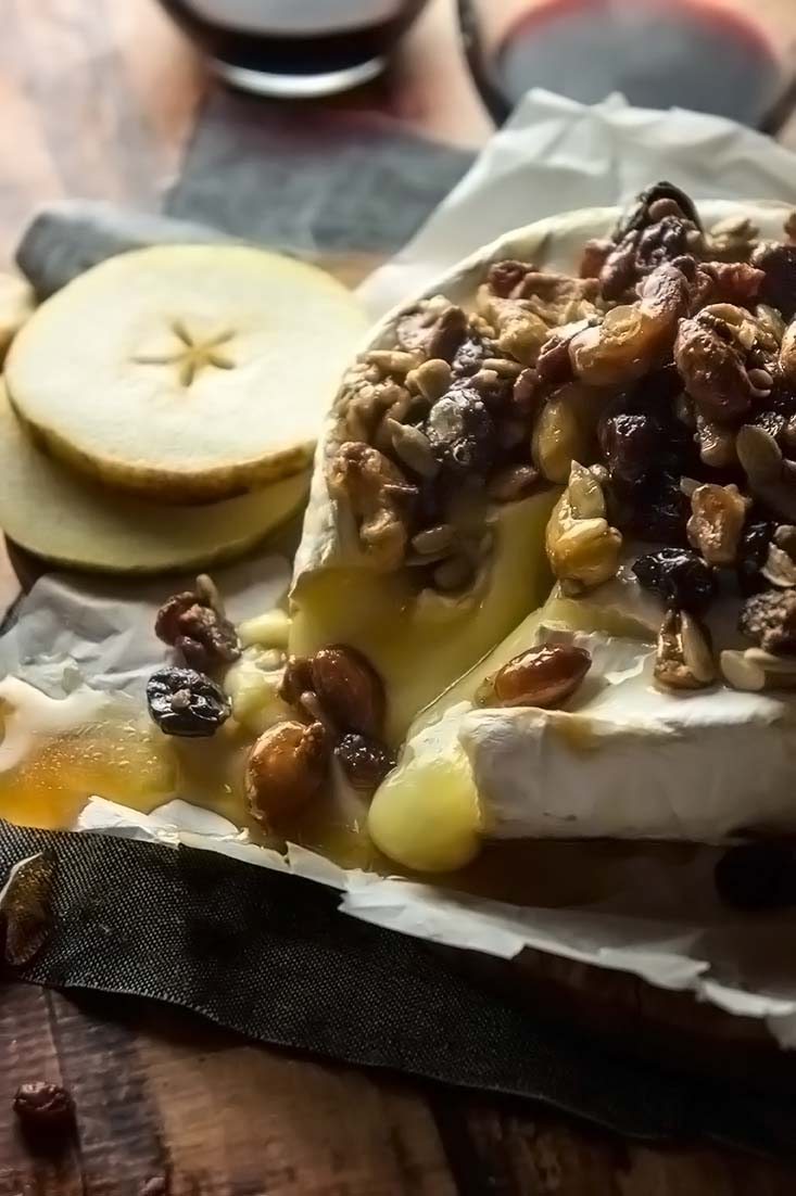 Nutty Maple Baked Brie