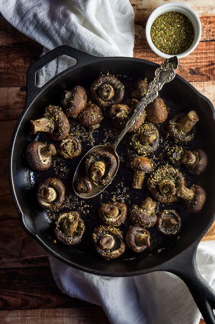 Easy Herb De Provence Roasted Mushrooms