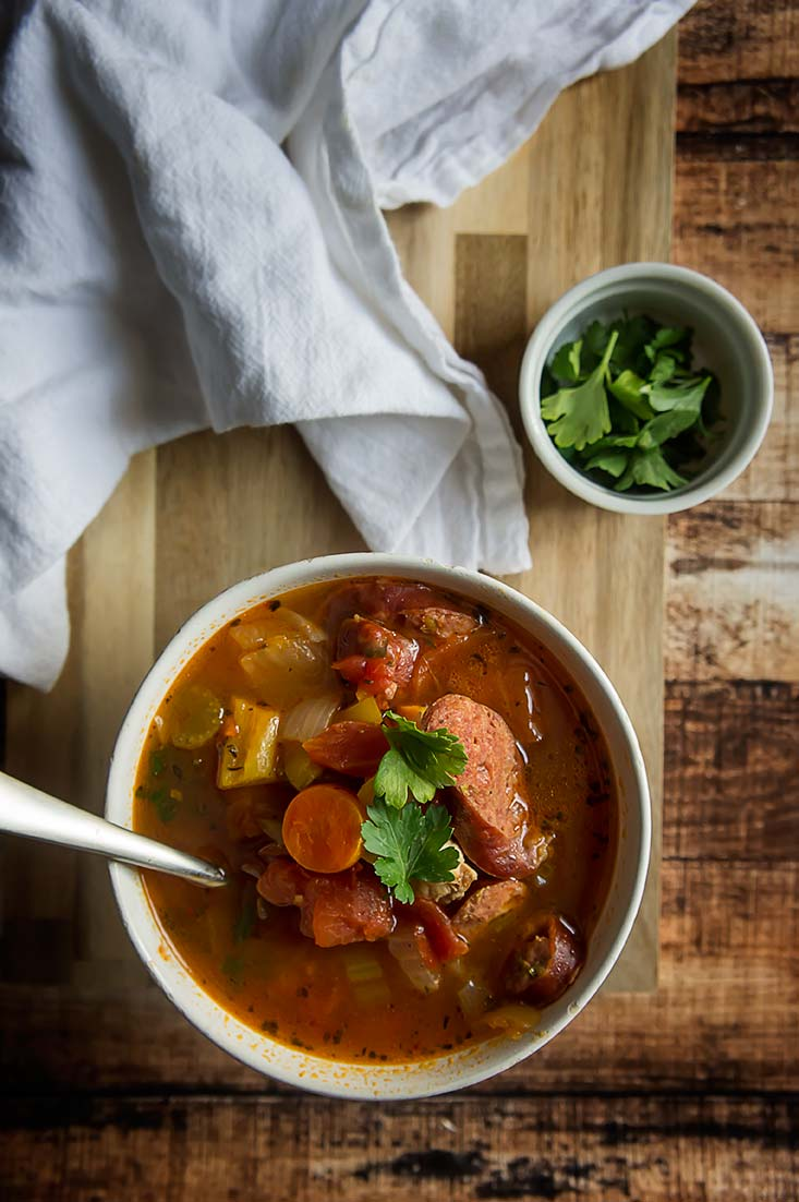 Paleo Chicken & Smoked Sausage Stew