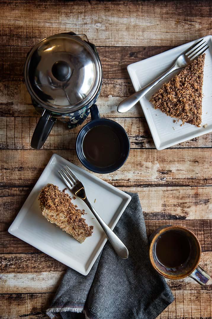 Paleo Cinnamon Coconut Crumble Coffee Cake