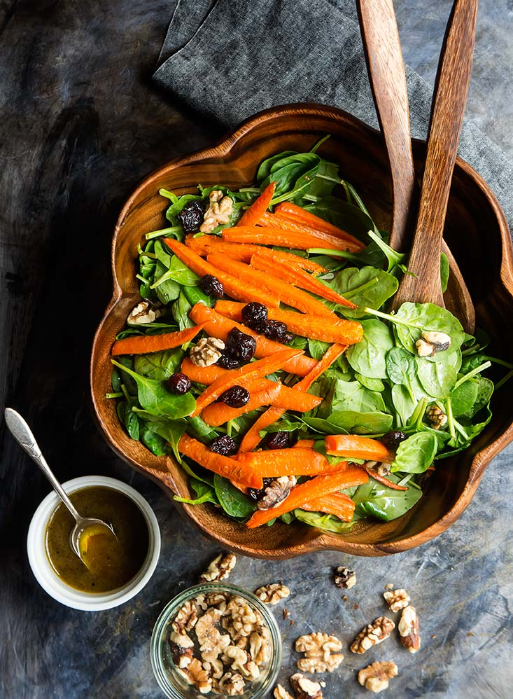 Maple Roasted Carrot Salad