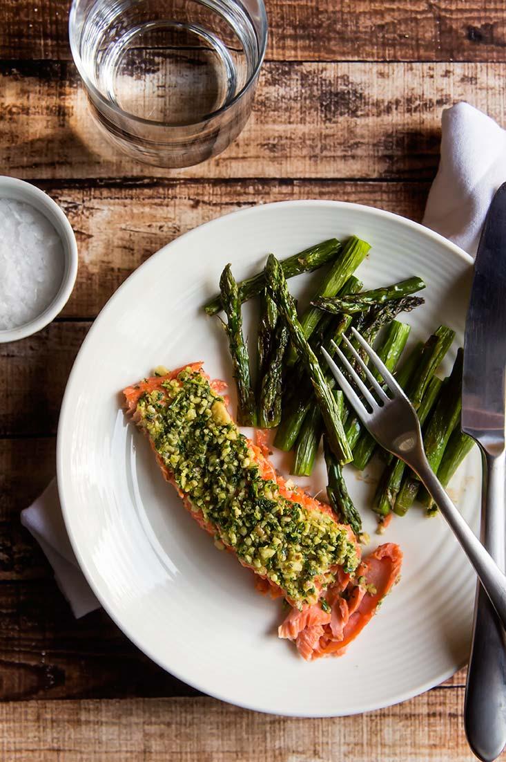 Walnut & Herb Crusted Salmon