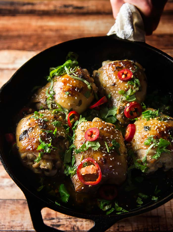 Sesame Lime Chicken Thighs