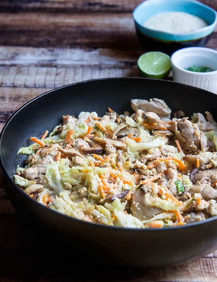 Moo Shu Stir Fry Pork or Chicken