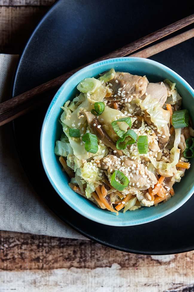 Healthy Moo Shu Stir Fry Pork or Chicken