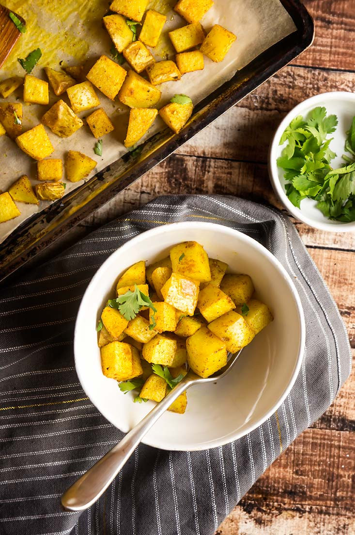 Golden Potatoes (Curry Roasted Potatoes)