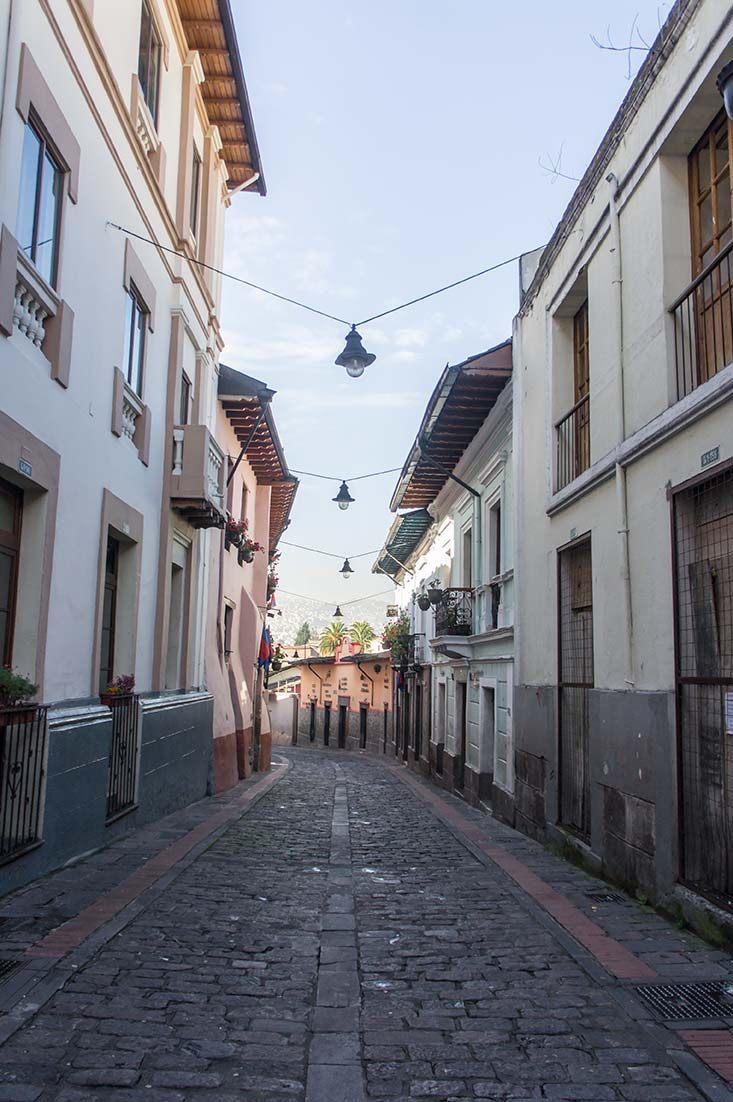 Calle la Ronda in Quito