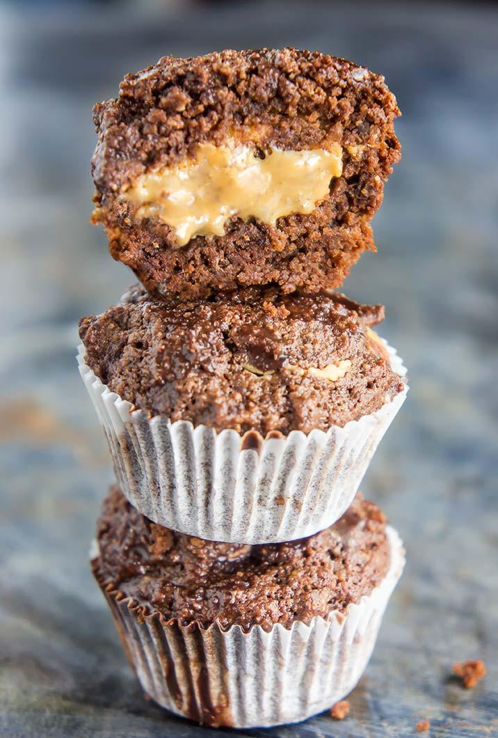 Peanut Butter Stuffed Brownie Bites (Gluten-Free)