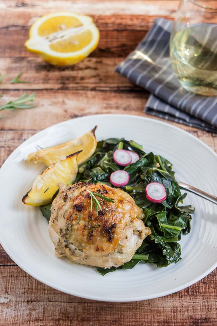 Crispy Lemon & Rosemary Chicken Thighs