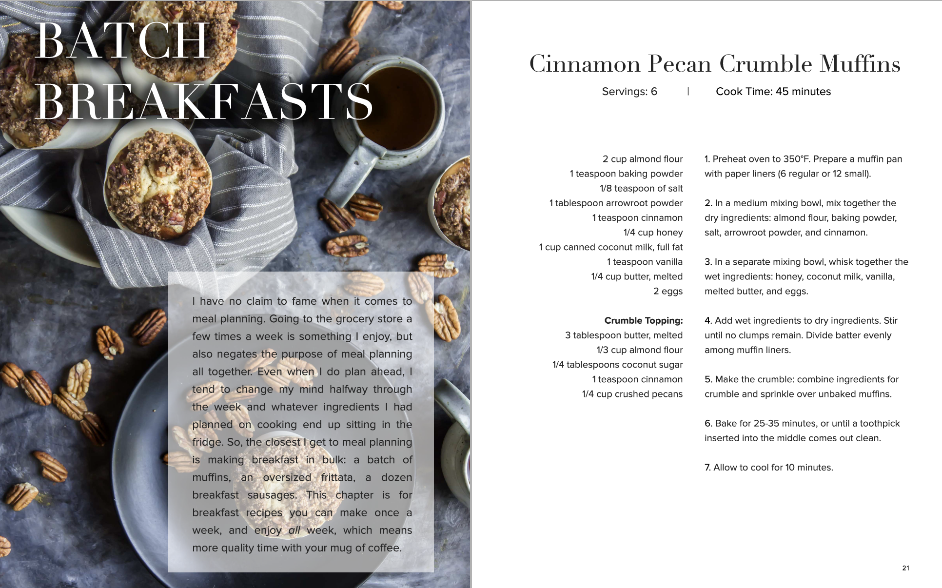 Foraged Breakfast - sample page from cookbook