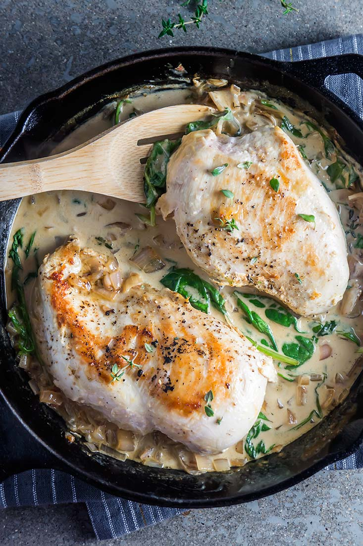 White Wine Cream Sauce Chicken & Thyme