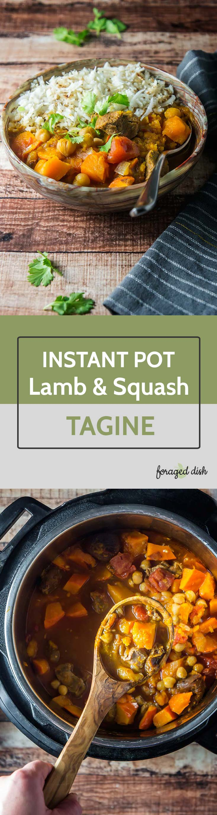 Instant Pot Lamb & Winter Squash Tagine with Apricots & Chickpeas