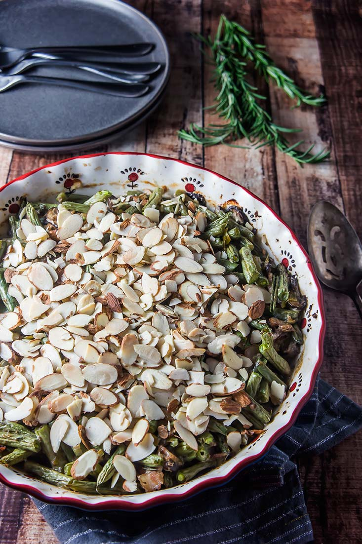 Toasted Almond Green Bean Casserole (Gluten-Free)
