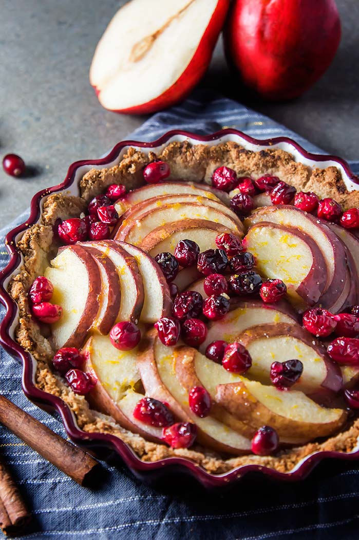 Cranberry Pear Tart