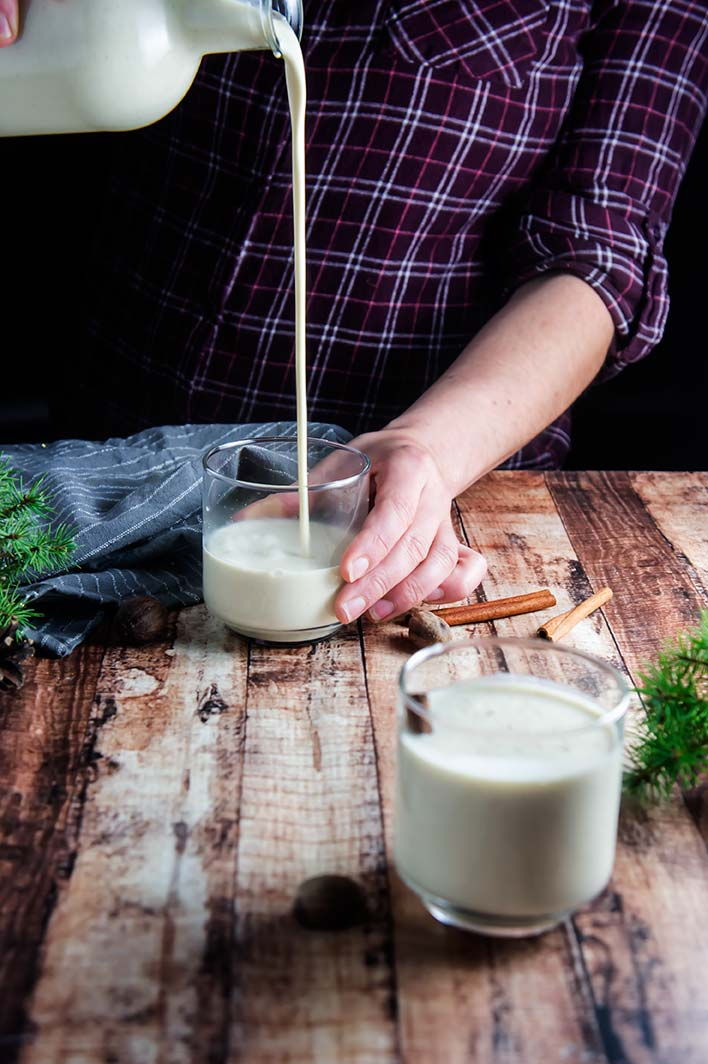Maple-Sweetened Eggnog (No Refined Sugar!)