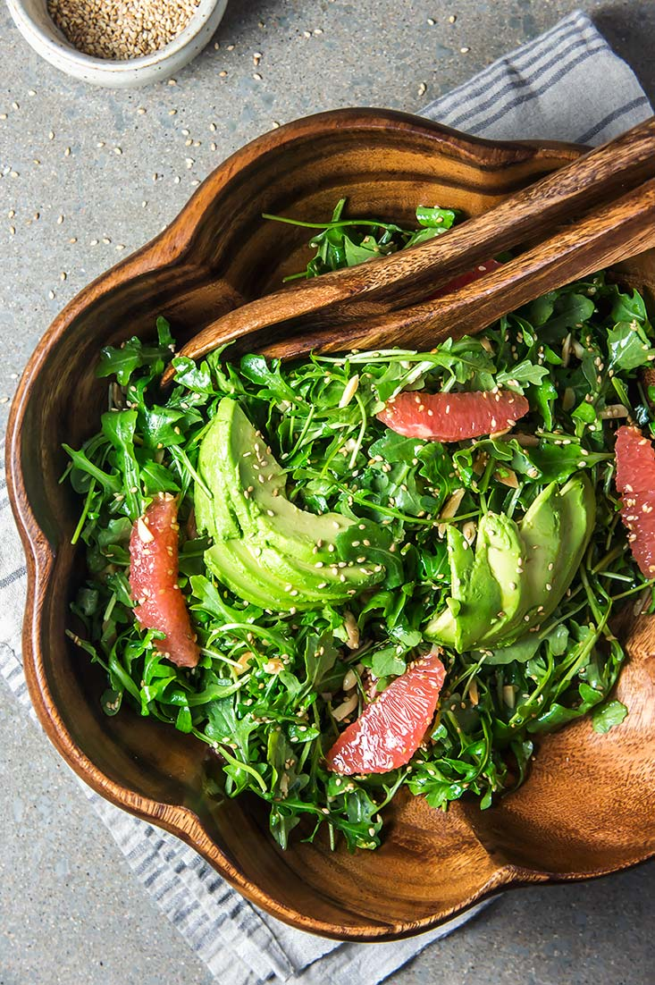 Crunchy Arugula, Grapefruit & Avocado Salad