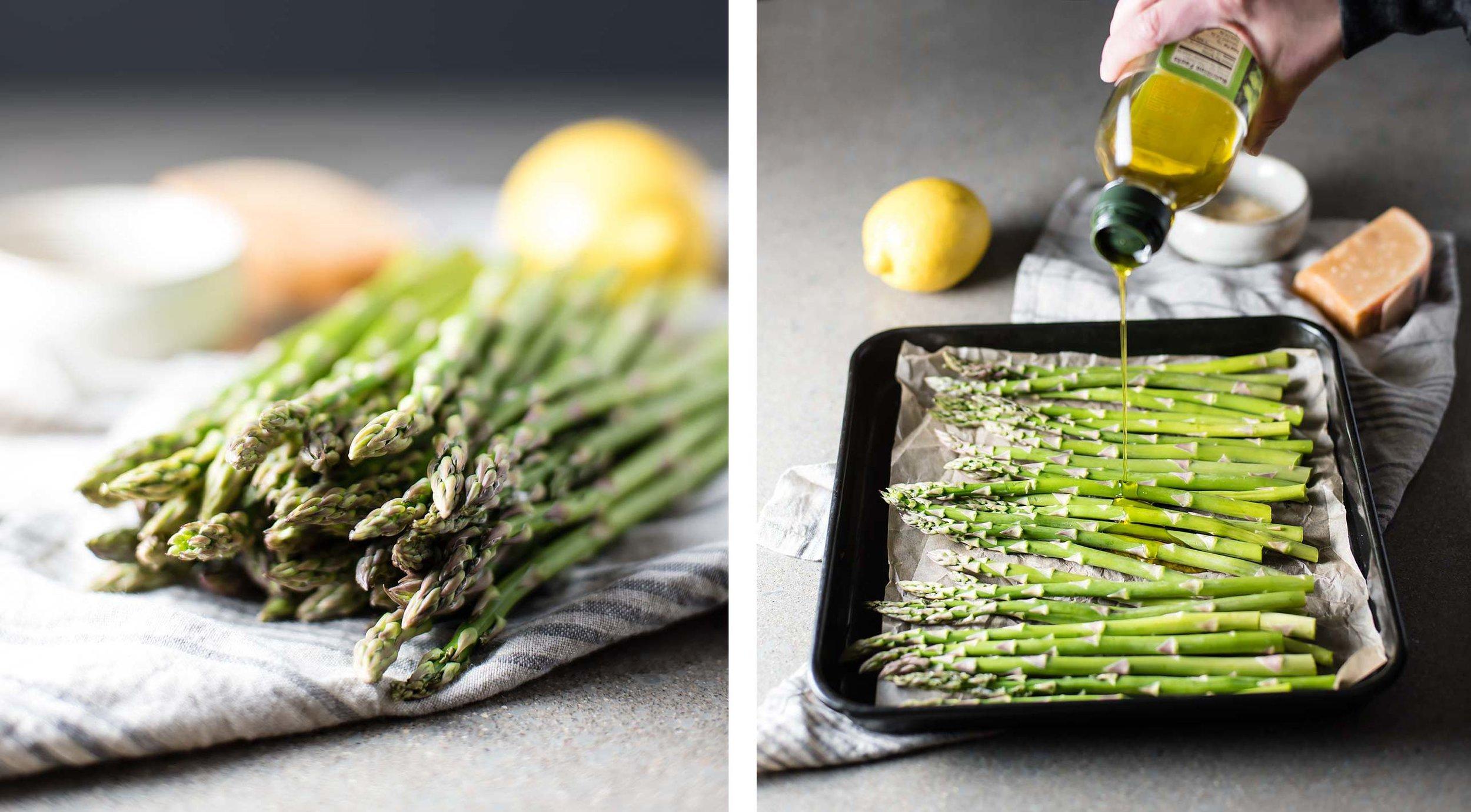 Roasted Asparagus with Lemon, Garlic & Parmesan