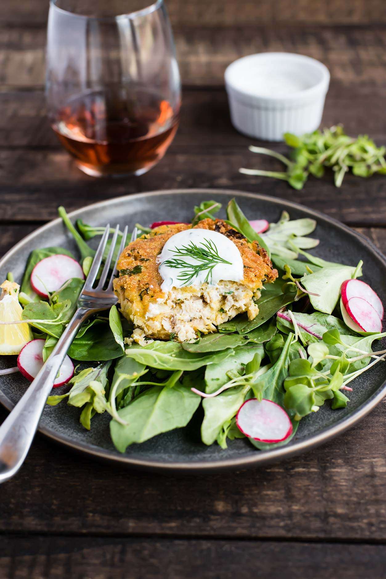 Spring Salmon Burgers Made with Canned Salmon