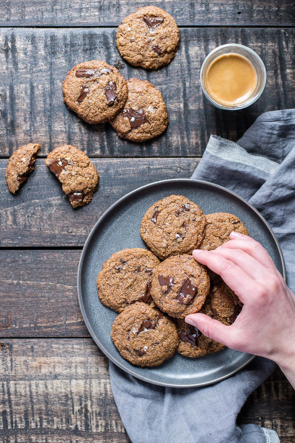 Chewy Tahini Chocolate Chip Cookies (Gluten-Free & Grain-Free)