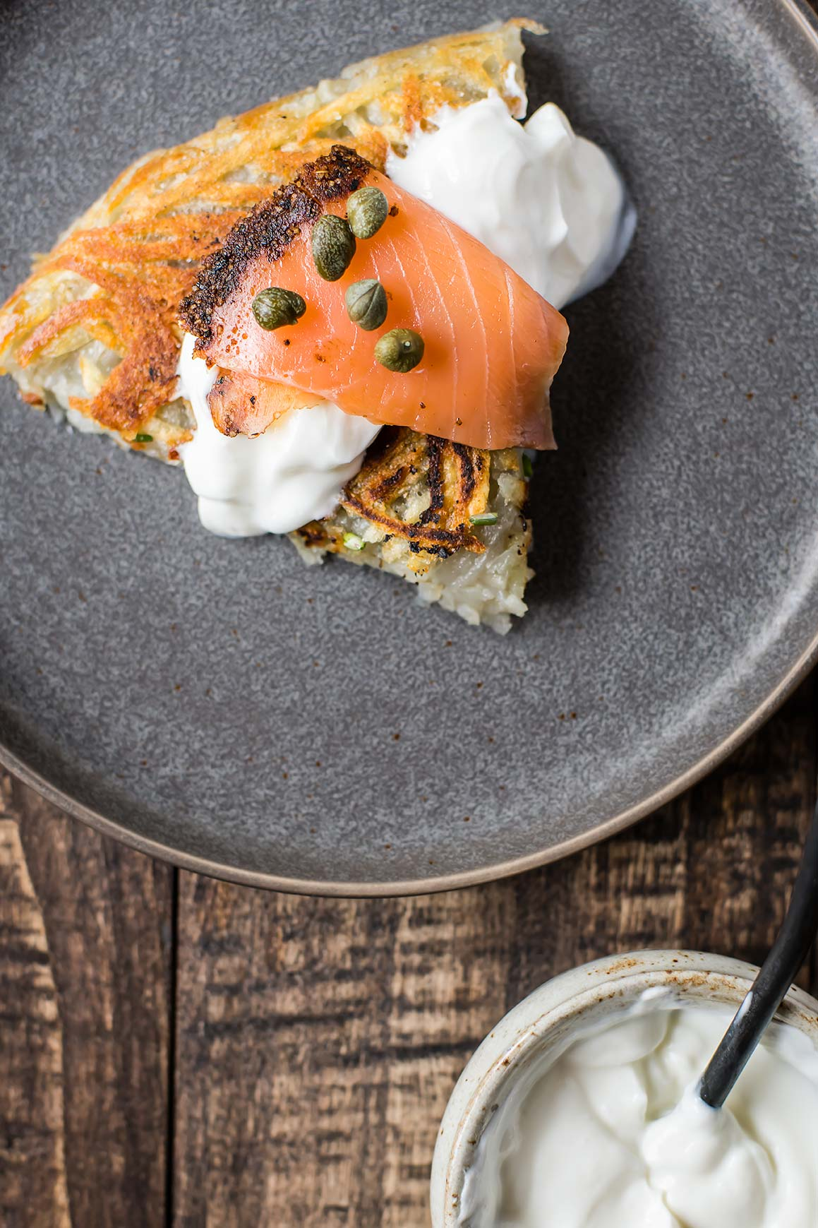 Potato Galette with Lox (AKA Giant Latke)