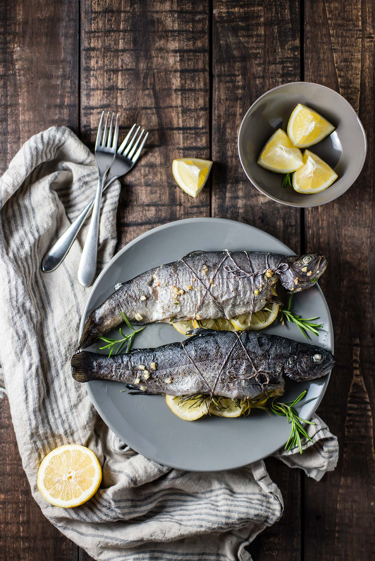 Pan Roasted Trout with Lemon & Rosemary