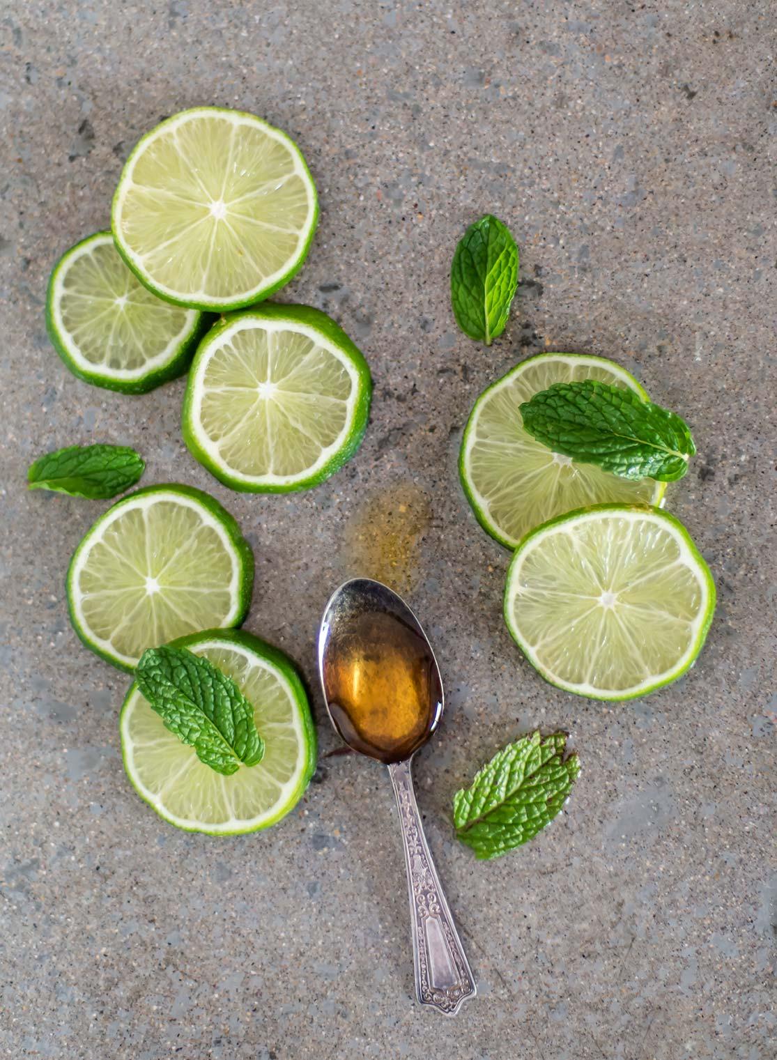 Honey Mint & Lime Popsicles