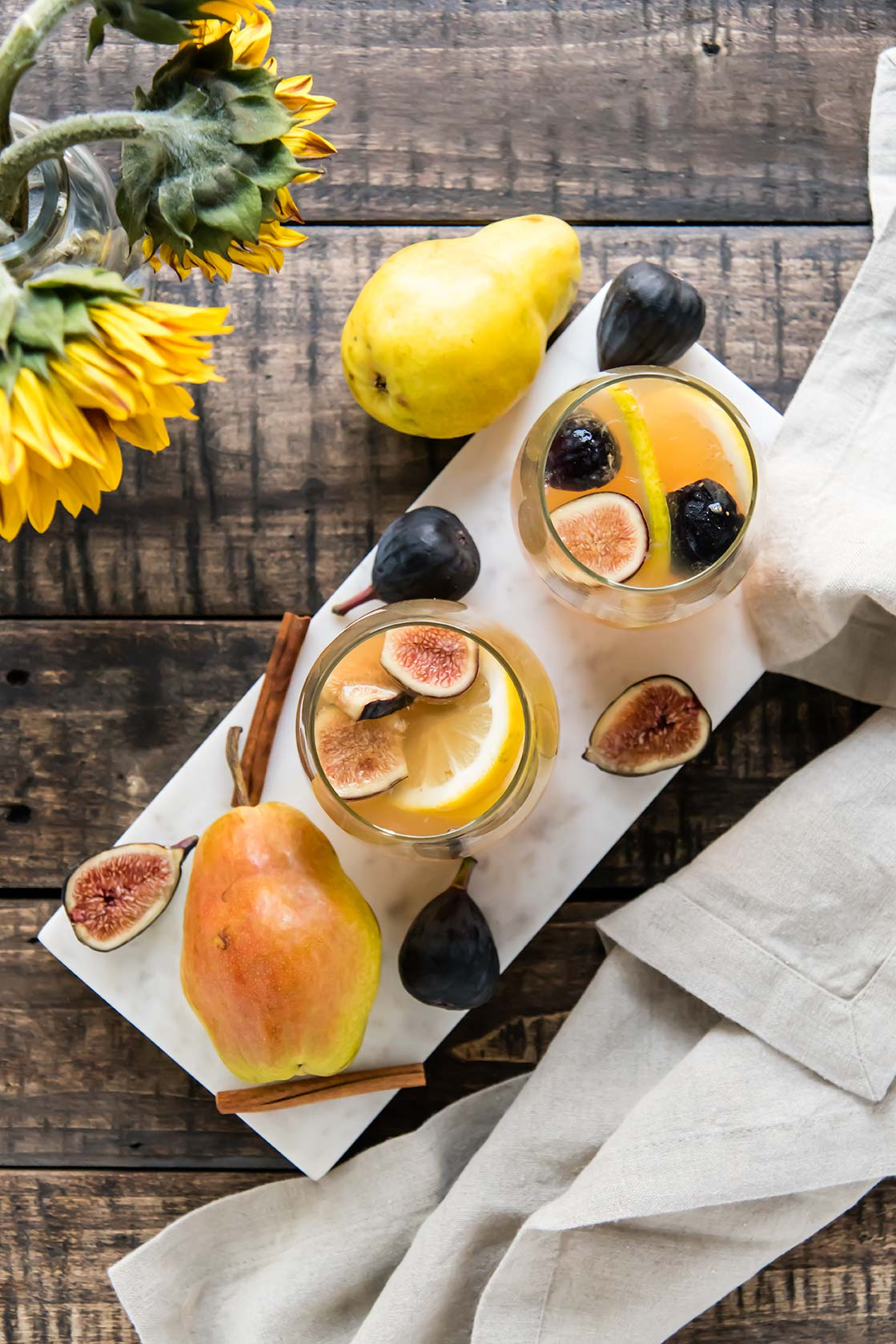 White Wine Sangria with Figs and Pears