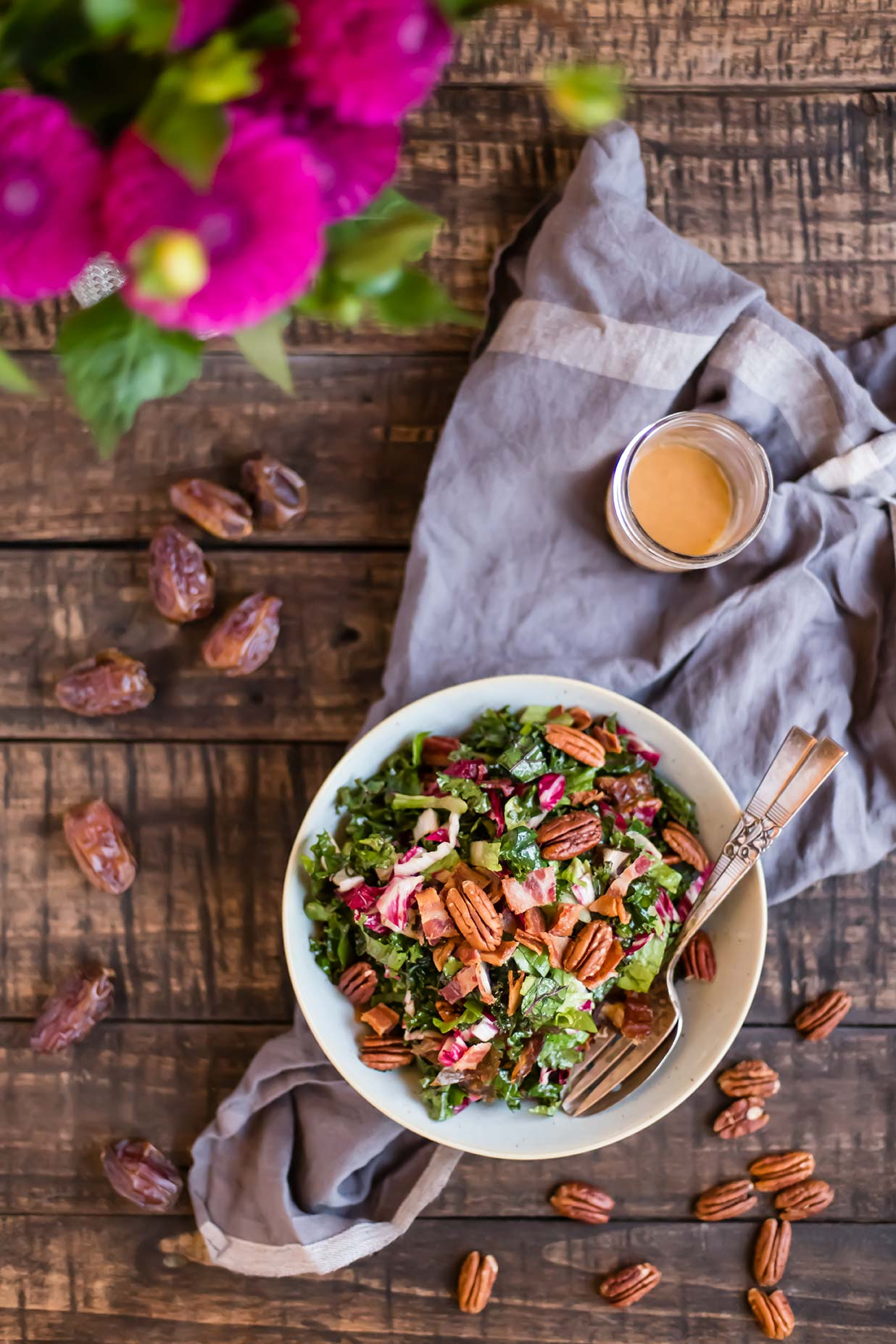 Chopped Kale Salad with Bacon, Dates & Kale