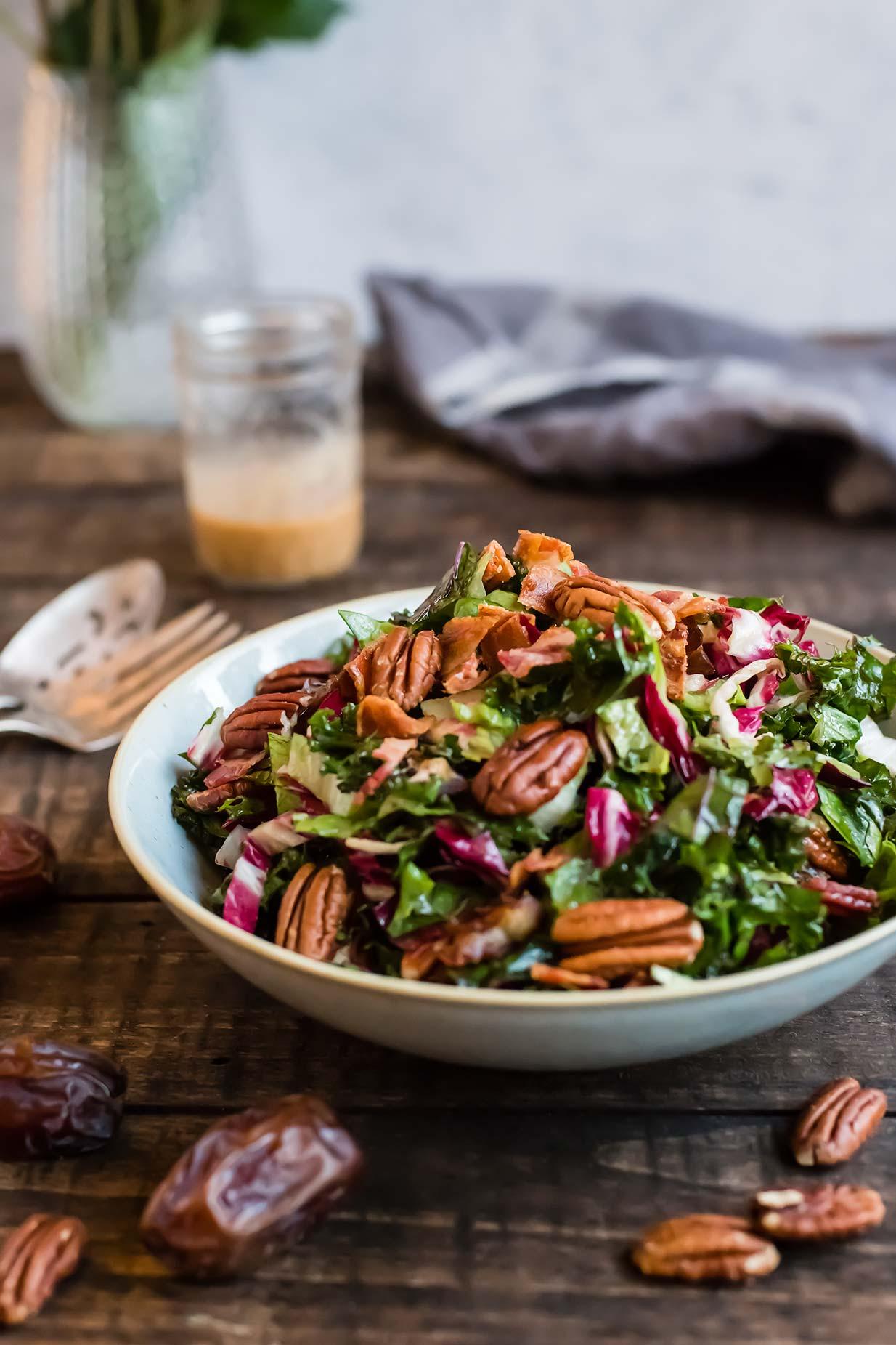 Chopped Kale Salad with Bacon, Dates & Kale