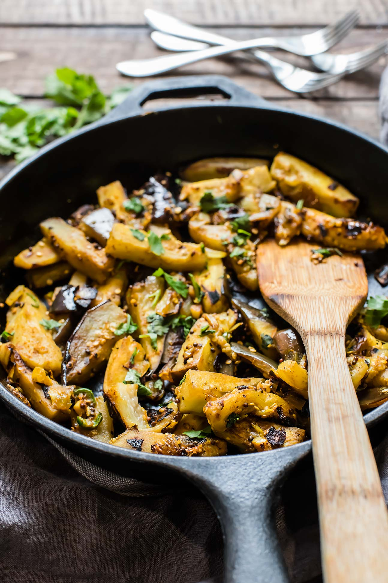 Seared & Curried Eggplant (Paleo & Vegan)