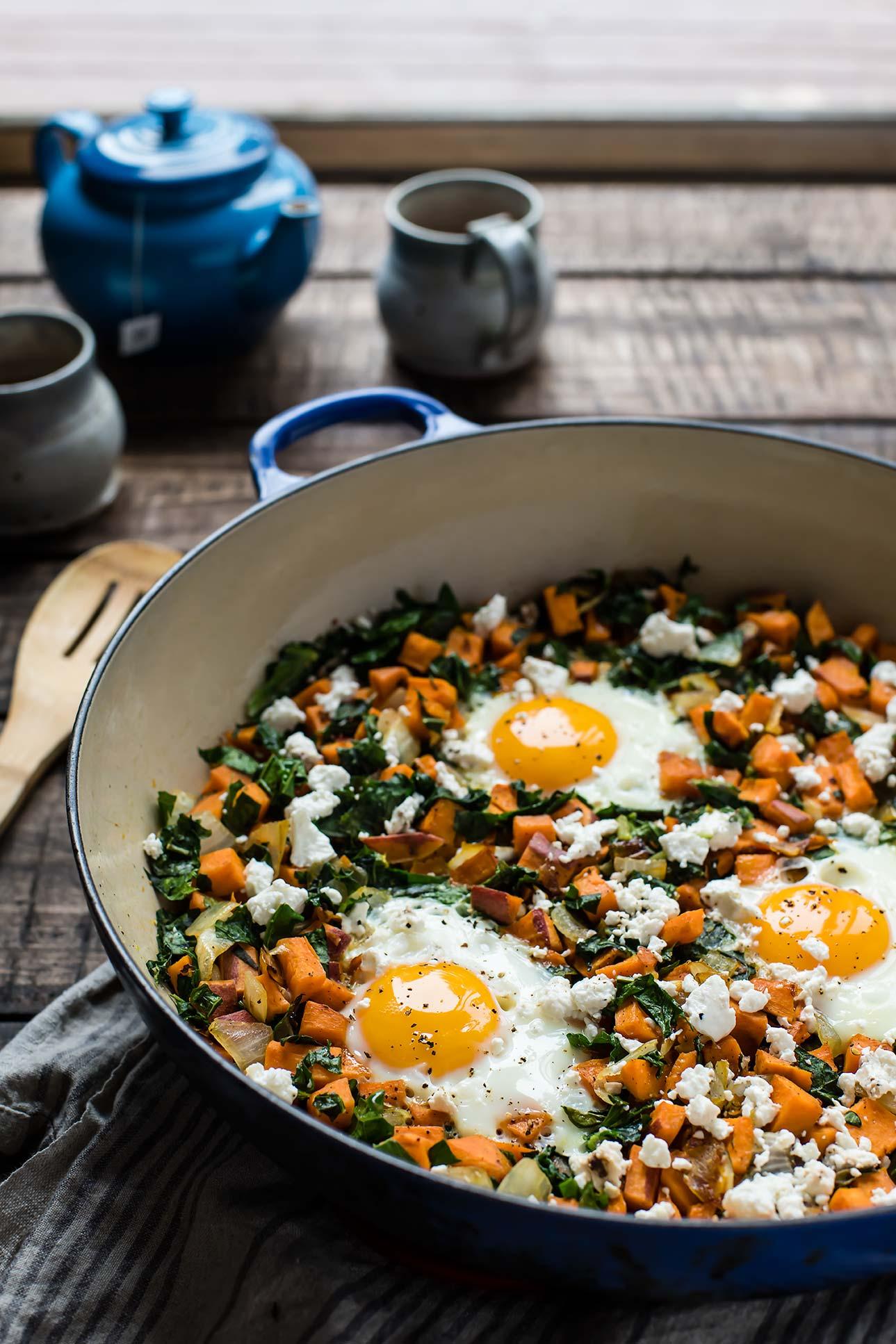 Sweet Potato & Kale Breakfast Skillet