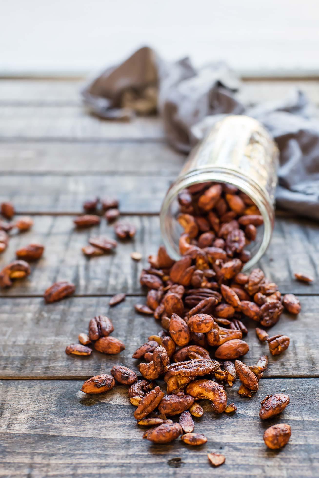Paleo Honey Mustard Roasted Nuts