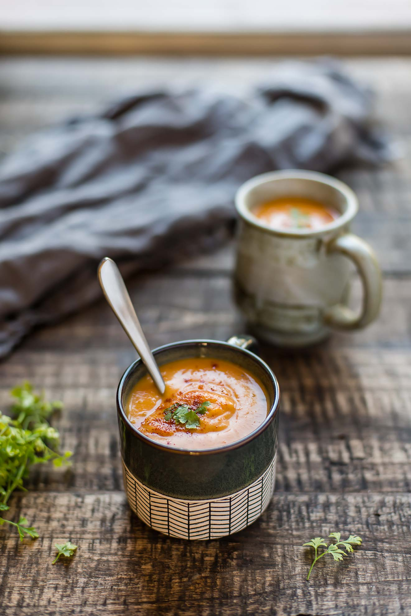 Spicy Ginger Sweet Potato Soup