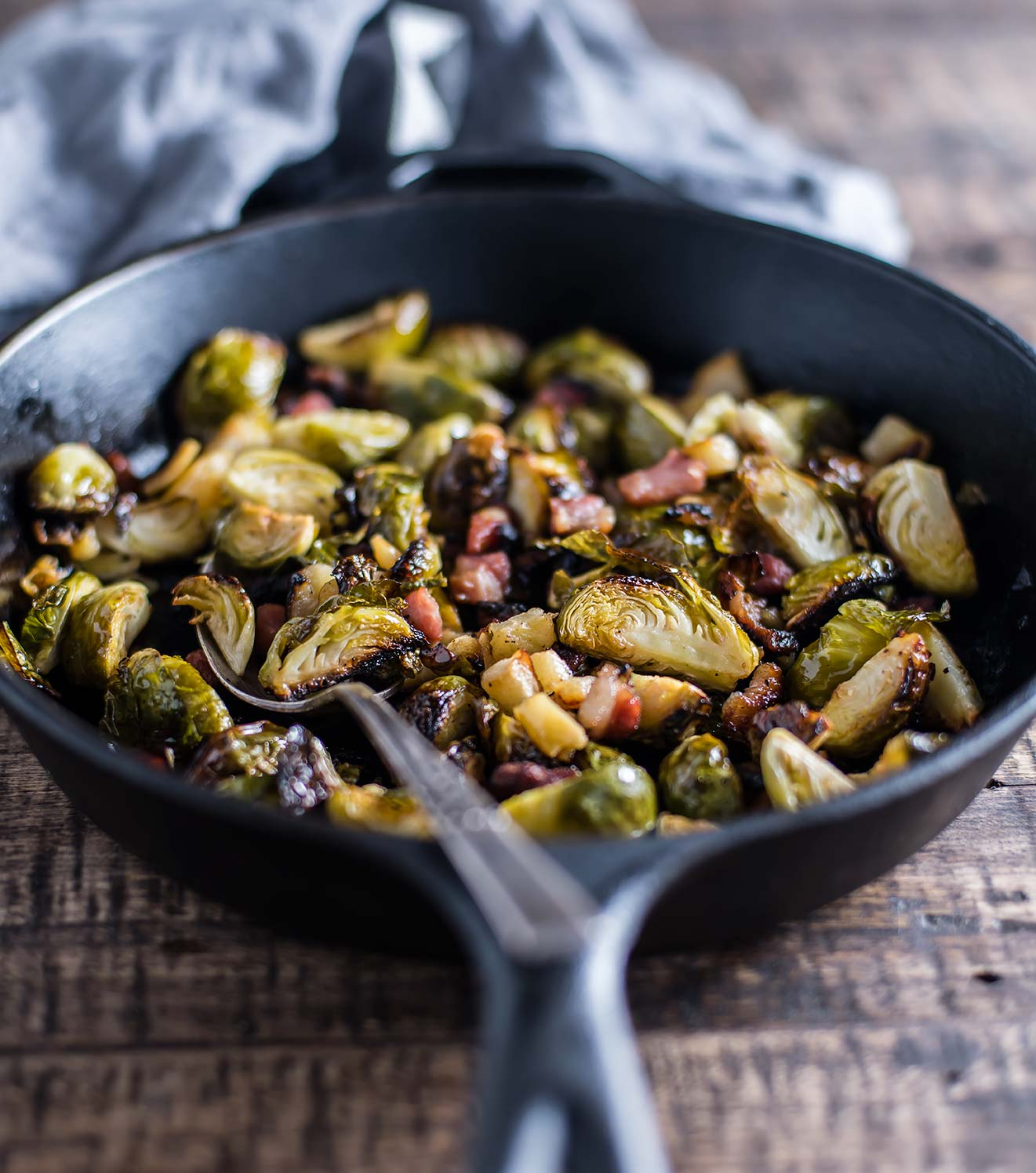 Brussels Sprouts with Pancetta and Apples
