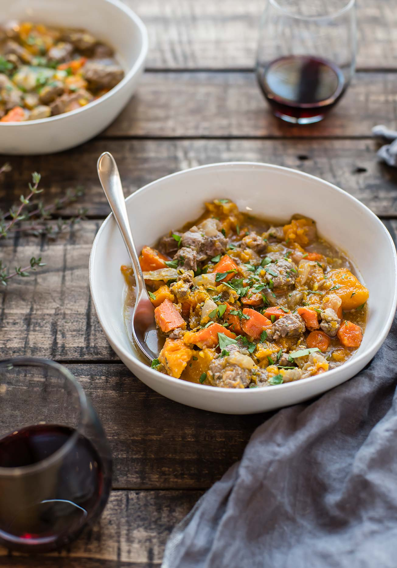 Slow Cooker Beef Stew With Autumn Vegetables Foraged Dish