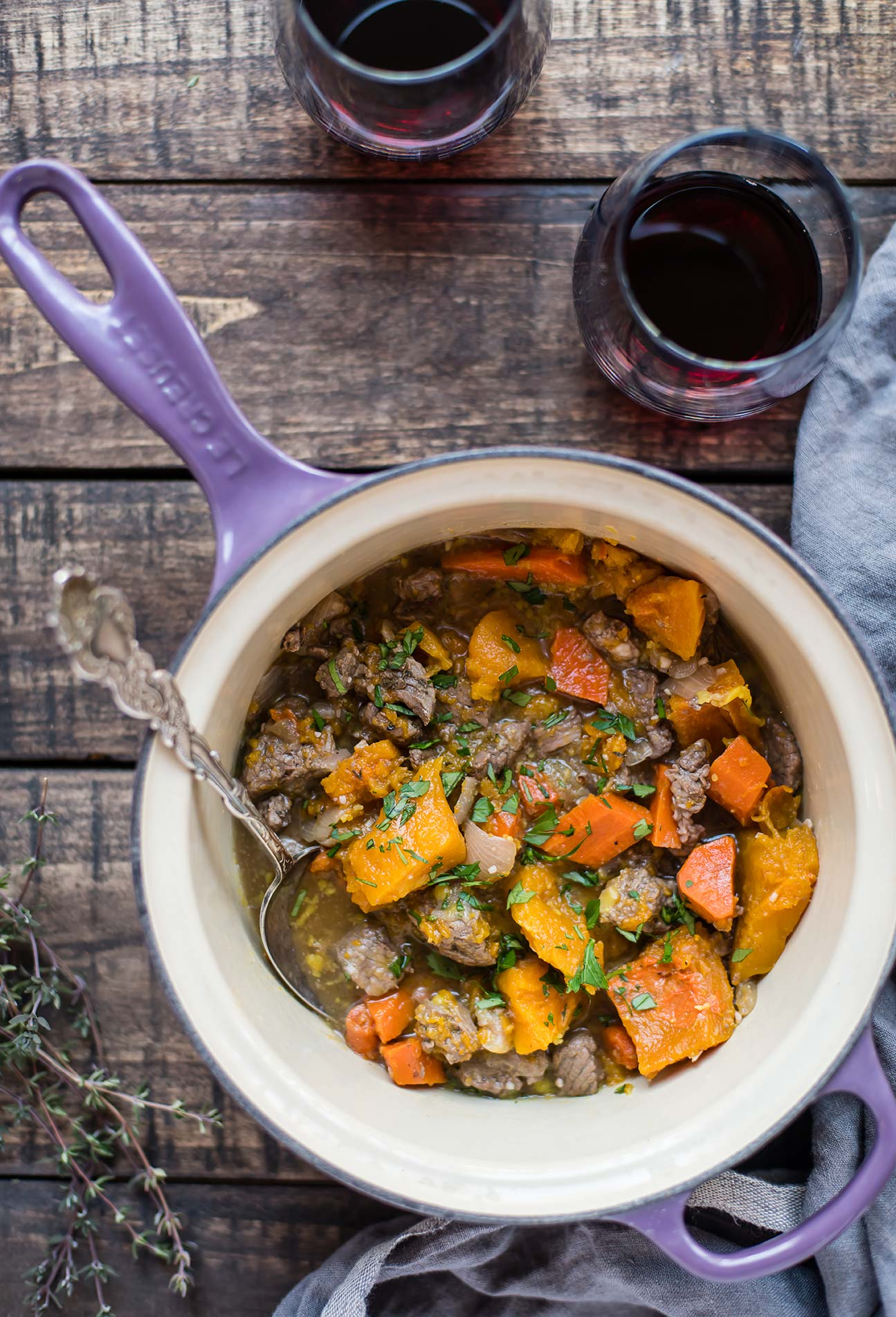 Slow Cooker Beef Stew with Autumn Vegetables