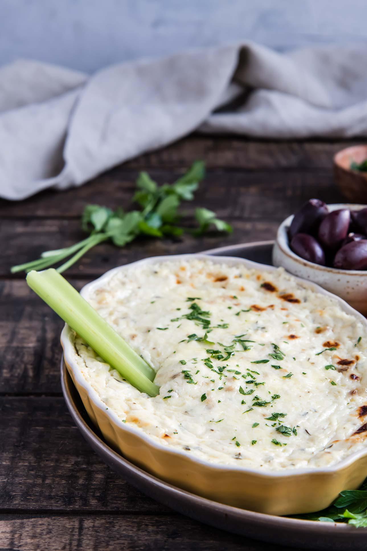 Warm Gruyère, Roasted Garlic & Thyme Dip
