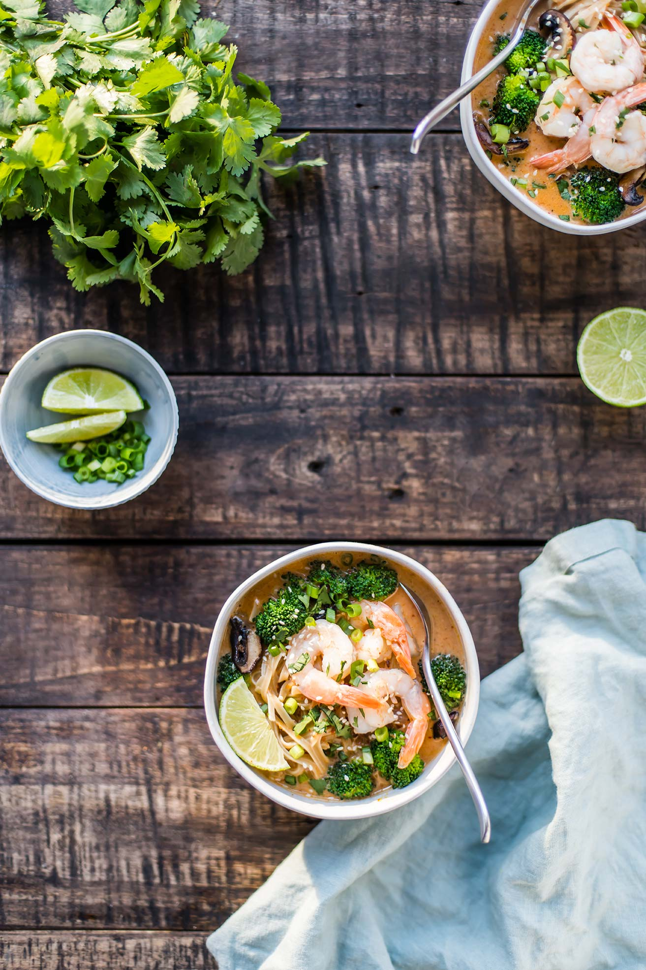 Red Curry Noodle Bowl with Shrimp & Broccoli
