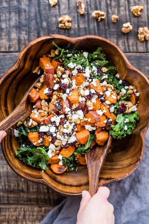 Sweet Potato Strawberry Arugula Salad