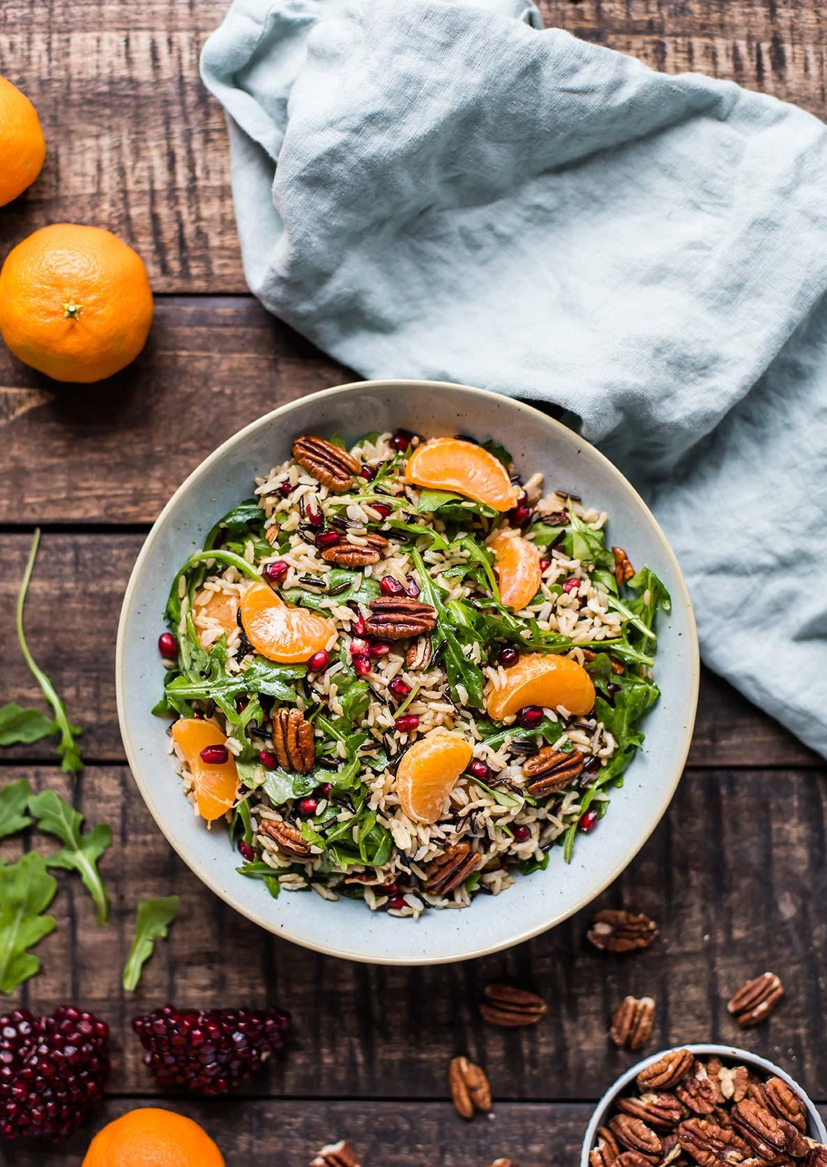 Wild Rice Salad with Satsuma Mandarins