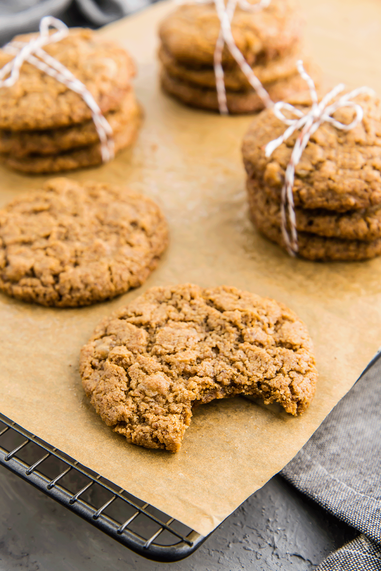 Soft & Chewy Ginger Tahini Cookies