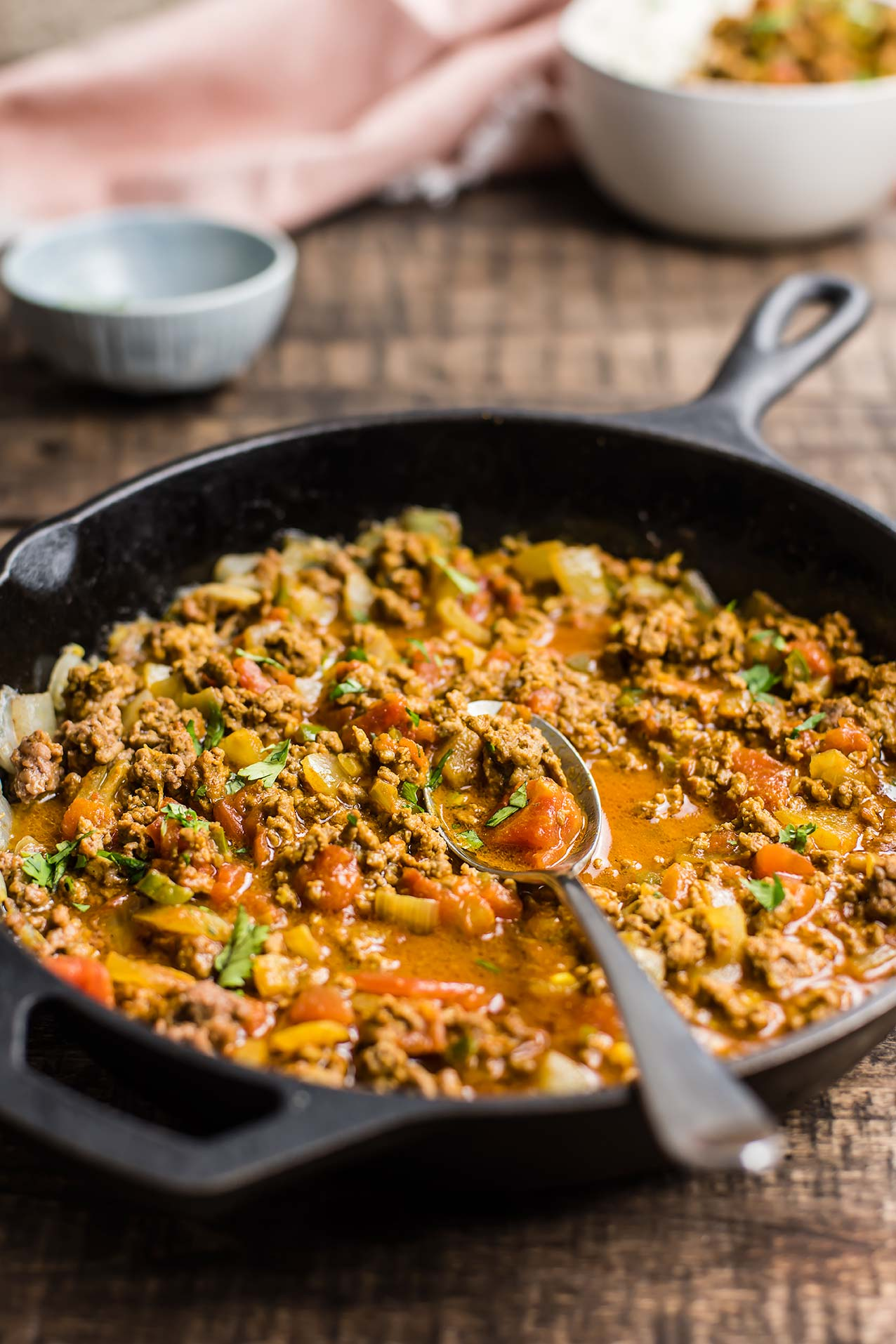 Easy, One Pan Paleo Ground Beef Korma