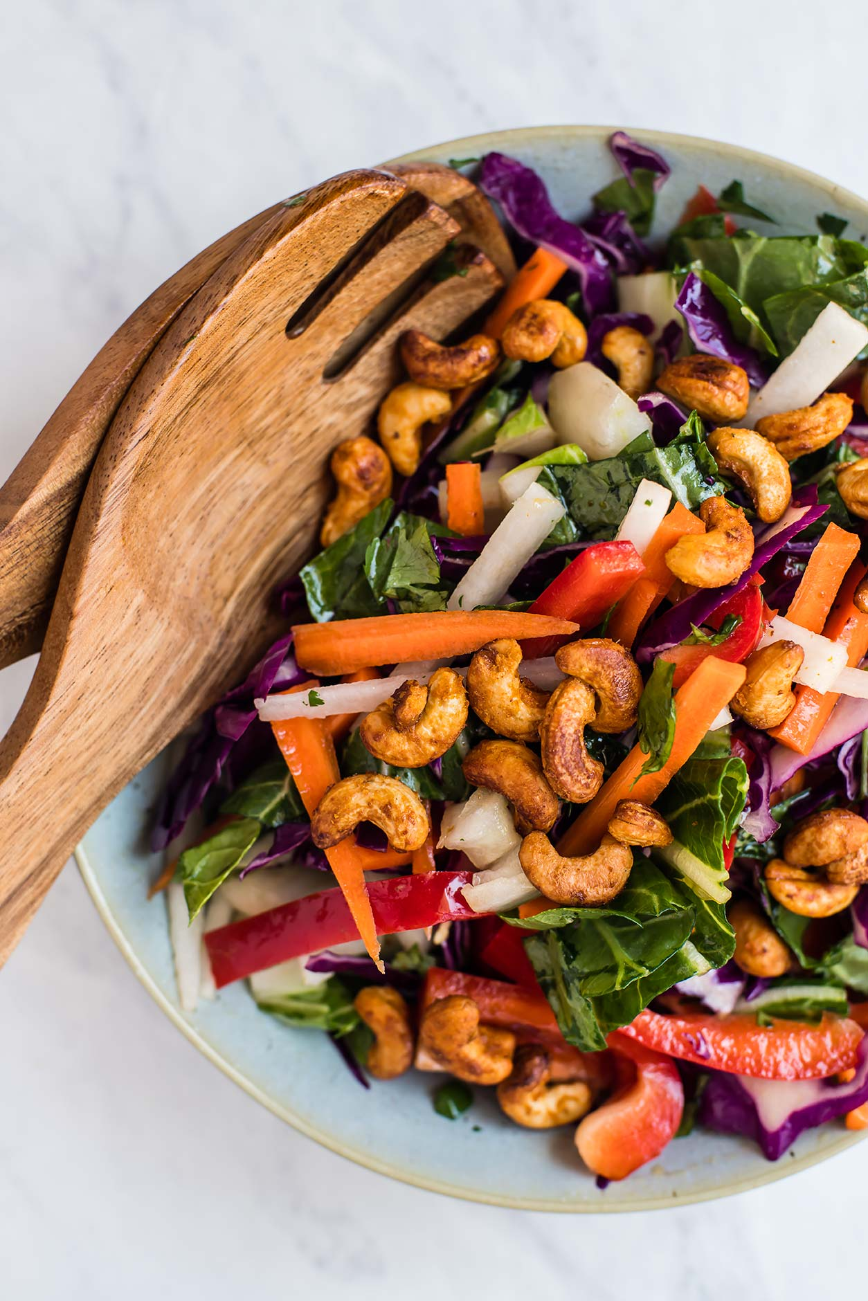 Asian Chopped Salad with Sriracha Roasted Cashews