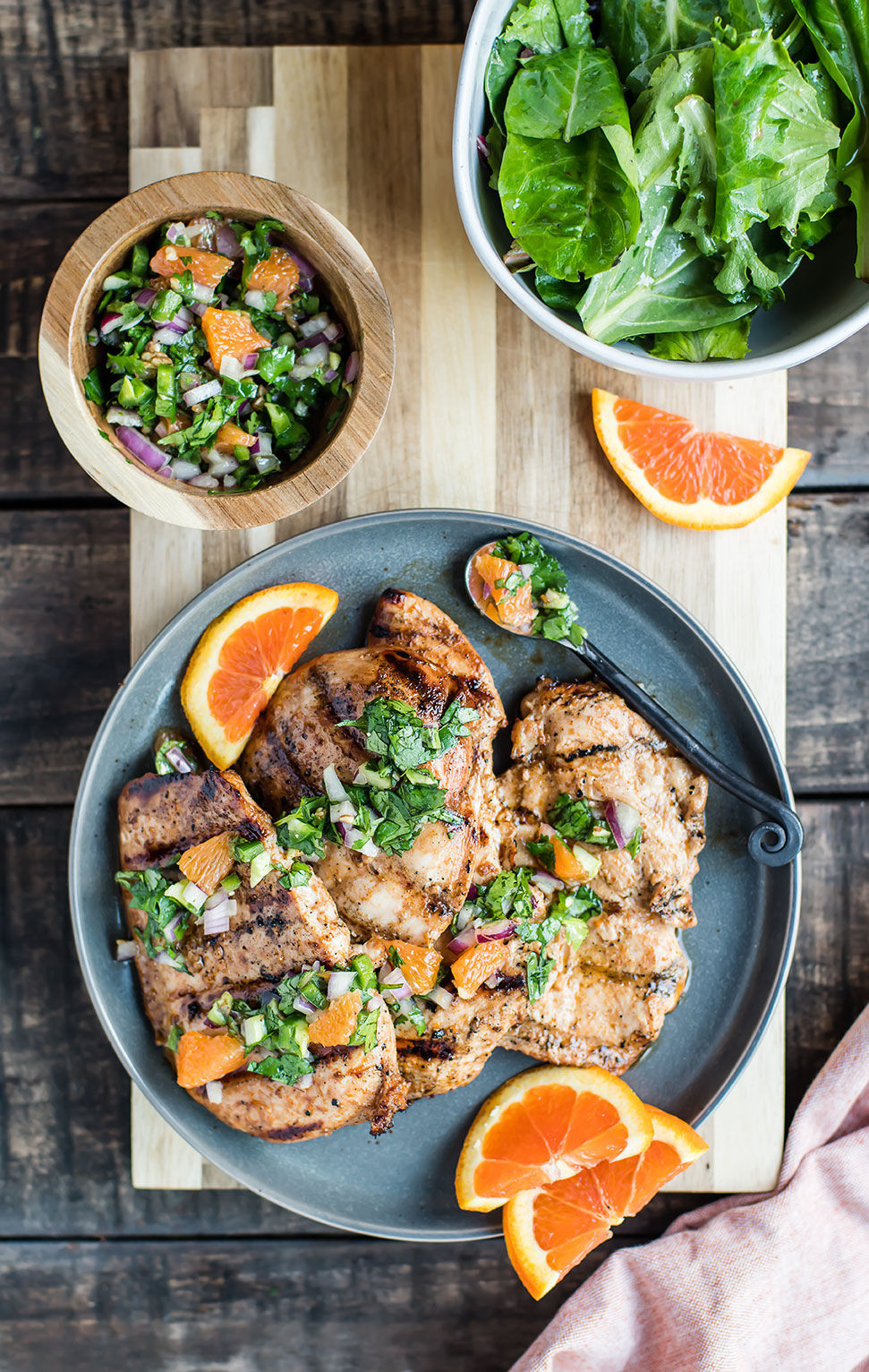 Kombucha Chicken with Orange Salsa