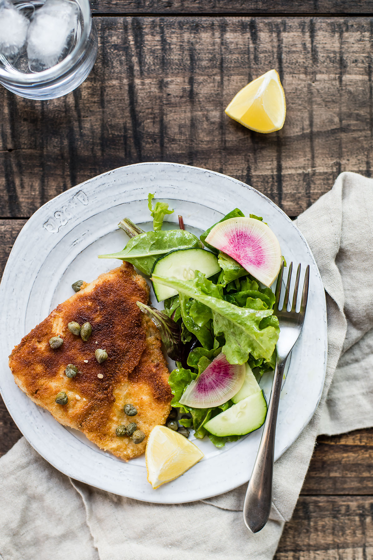 Fried Fish with Lemon-Butter Sauce