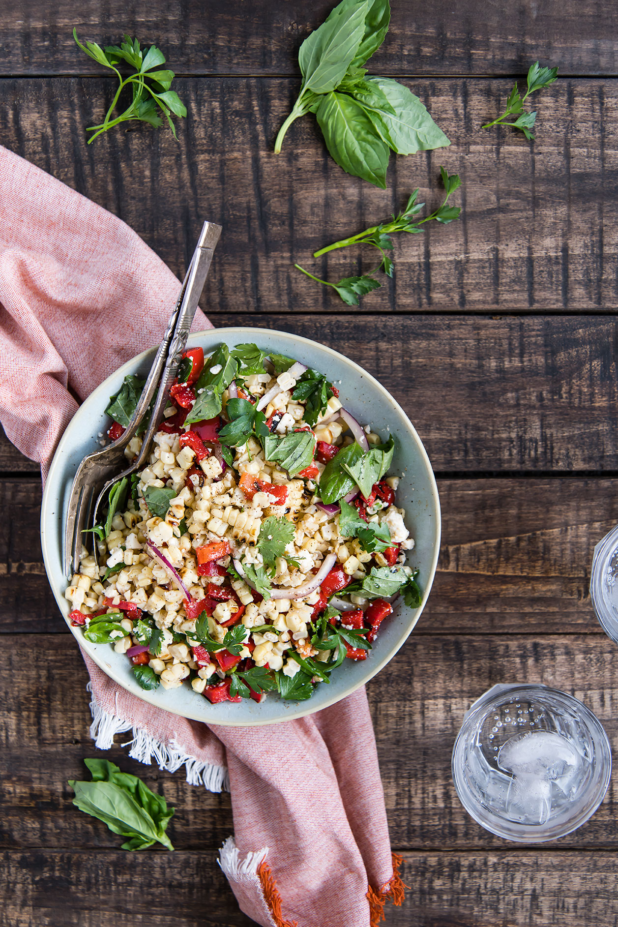 Roasted Corn Salad with Fresh Herbs