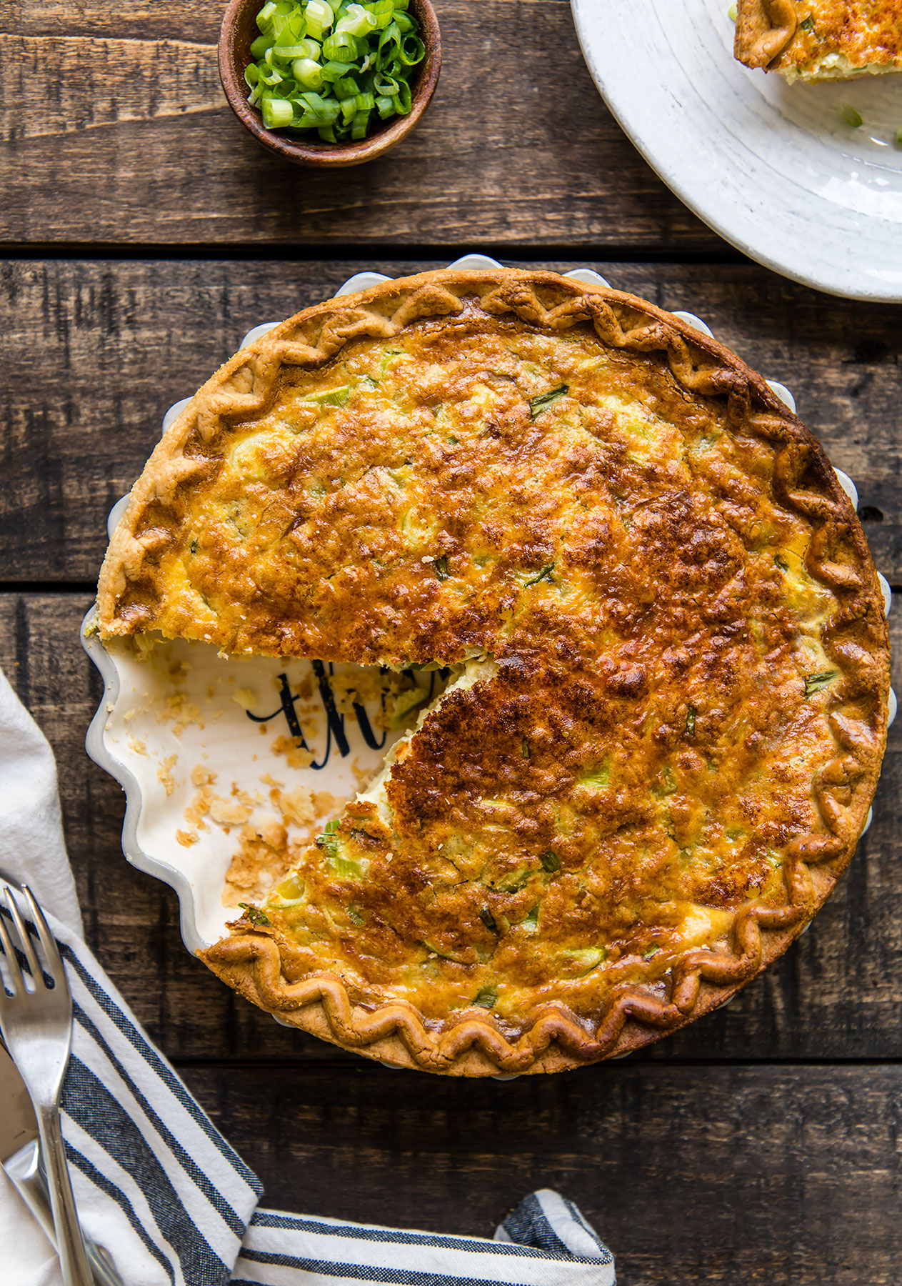 Green Chile & Cheese Quiche