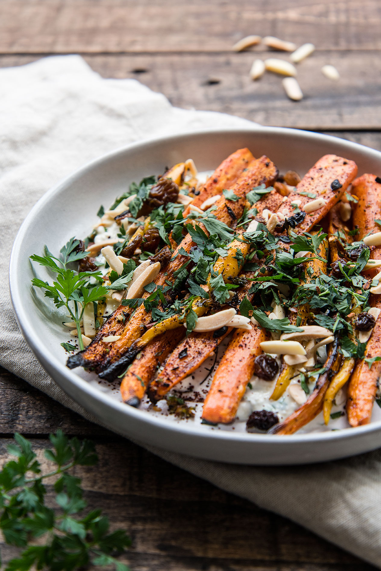 Grilled Carrots with Feta Yogurt Sauce