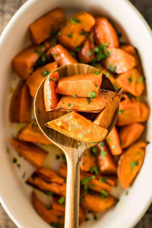 Citrus Butter Sweet Potatoes