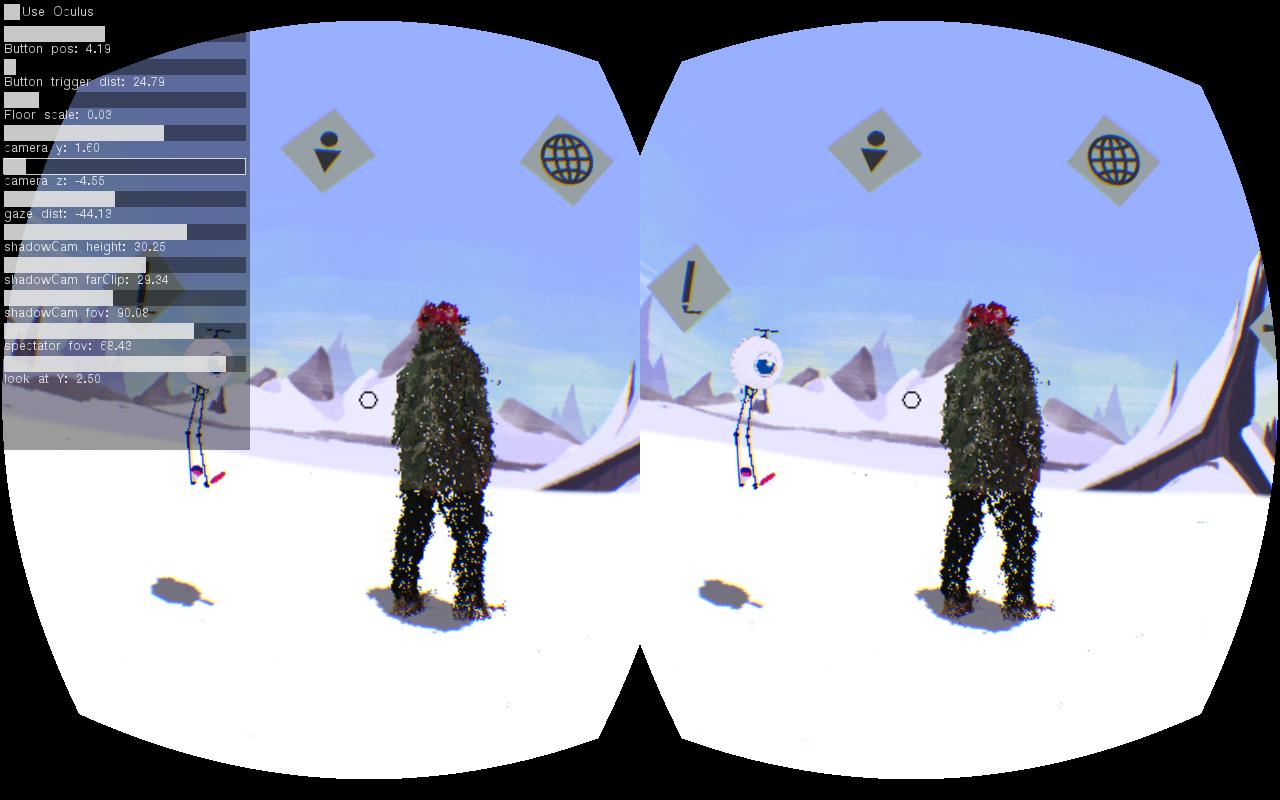 Debug view inside Oculus Rift